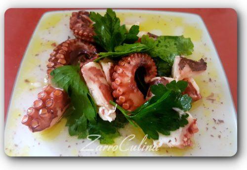 Warmer Tintenfischsalat