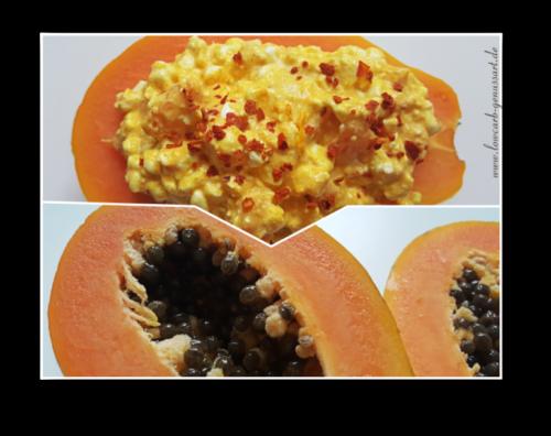 ♡ Papaya meets Körnigen Frischkäse