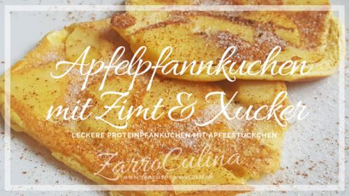 Leckere Protein-Apfelpfannkuchen mit Apfelstückchen